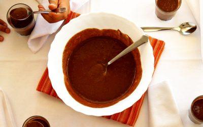 Mousse frutada de Chocolate e Iogurte