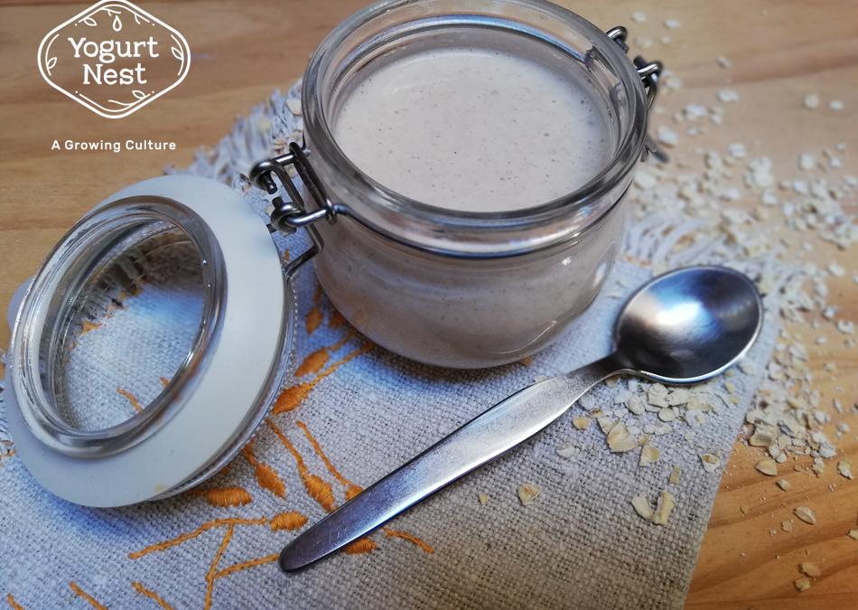 Iogurte vegetal de aveia caseiro