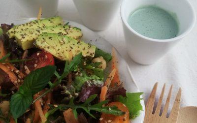 Maionese vegan tricolor de iogurte de caju