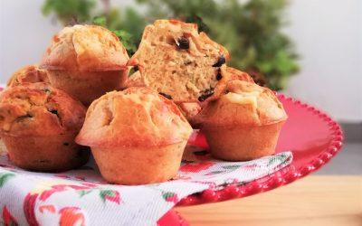 Muffins salgados de iogurte, azeitona e algas